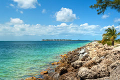 Key West, Florida, USA. View from the Fort Zachary Taylor Historic State Park in Key West, Florida stock photo