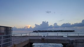 Mallory Square Sunset. Key West Florida Vacation Stock Photo