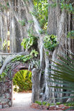 Key West Garden. The entrance to the southernmost botanical garden in the United States Key West, Florida royalty free stock photo