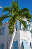 Key West i stadens centrum gatahus i Florida Arkivbilder
