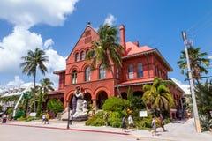 Key West konstmuseum & historia på det beställnings- huset royaltyfria bilder