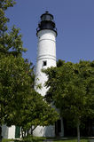 Key west lighthouse florida America usa united states. Vertical stock photo