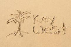 Key West nella sabbia Fotografia Stock Libera da Diritti