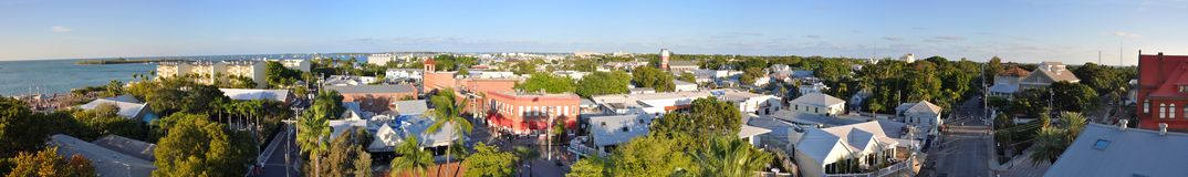 Key West Old Town panorama, Key West, Florida Royalty Free Stock Image