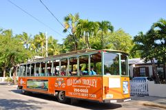 Key West Old Town Trolley, Florida Stock Photo