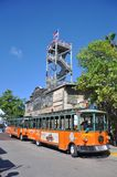 Key West Old Town Trolley, Florida Royalty Free Stock Photography