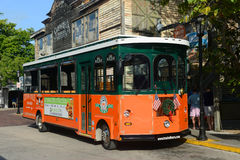 Key West Old Town Trolley, Florida Stock Photos