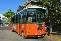 Key West Old Town Trolley, Florida Stock Image