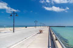 Key West Pier. Stretches out into the ocean Landscape Stock Photo