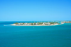 Key west pier. Vacation day in Key west , with funny ship Royalty Free Stock Photos