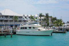 Key west pier. Yacht ship park in pier of key west , Florida Stock Images