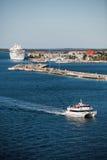 Key West port med fartyg Royaltyfria Foton