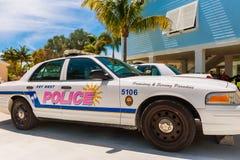 Key West samochód policyjny w Małym pochodnia klucza Floryda usa zdjęcia royalty free