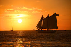 Key West solnedgång Arkivbilder
