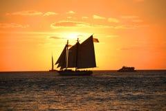 Key West solnedgång Arkivfoto