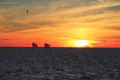 Key West solnedgång - Florida - USA Royaltyfri Bild