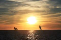 Key West solnedgång - Florida - USA Arkivfoto