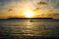 Key West-Sonnenuntergang über Sonnenuntergang-Schlüssel Lizenzfreie Stockbilder