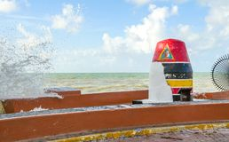 Key West Southernmost Point After Hurricane Irma. The southernmost Point Buoy in Key West after hurricane Irma 2017 Stock Images