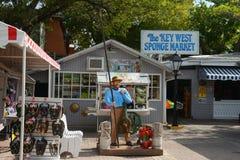 Key West Sponge Market, Key West, Florida. Key West Sponge Market at Mallory Square, Kew West, Florida, USA Stock Photo