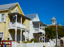 Key west street facades Florida US Royalty Free Stock Photo