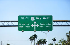 Key West street sign Stock Image