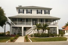 Key West Style Home stock photography
