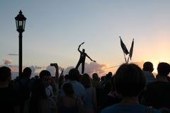 Key west sunset. Celebration at Mallory Square Royalty Free Stock Photo