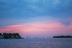 Key West Twilight Ocean Stock Photography