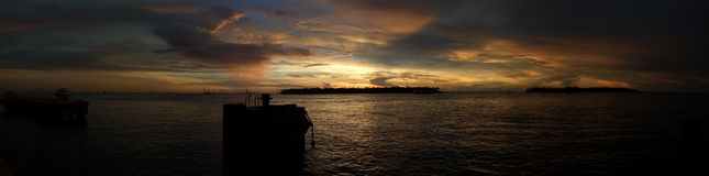 Key West twilight panorama Stock Photography