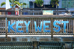 Key West undertecknar, Florida Royaltyfri Bild