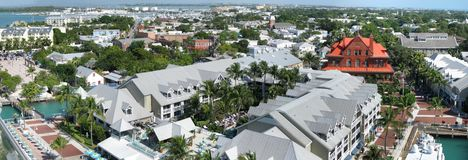 Key West. Very large composite panorama image of Key West, Florida Royalty Free Stock Photography