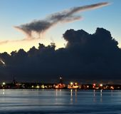 Key West w Błękitnej godzinie Fotografia Royalty Free