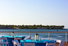 Key West waterfront before sunset. Royalty Free Stock Image