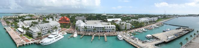 Key West. Wide angle panorama of Key West, Florida Stock Photography
