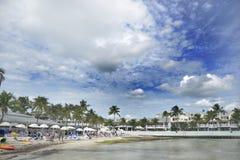 Key West wyrzucać na brzeg zdjęcie royalty free