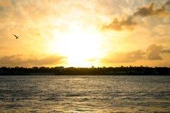 Key West zmierzch Nad zmierzchu kluczem Obraz Stock