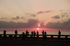 Key West-Zonsopgang, Florida Royalty-vrije Stock Afbeelding