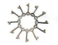 Key wheel. Keys arranged in a circle Royalty Free Stock Photo