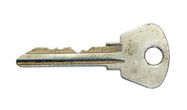 Key on a white background. Royalty Free Stock Photography