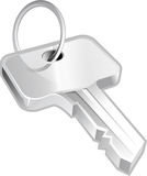 Key on white background Royalty Free Stock Photos