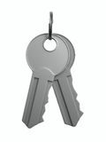key on white background Stock Photography