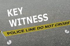 Key Witness concept Stock Image