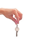 Key in woman's hand Royalty Free Stock Images