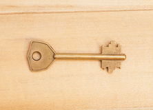 Key on wooden table Royalty Free Stock Photography
