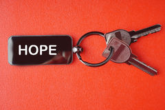 Key with word on red background, Royalty Free Stock Photo