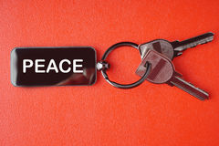 Key with word on red background, Stock Photography