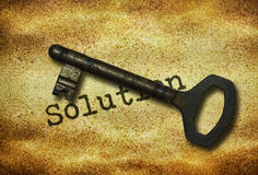 Key and word Solution Royalty Free Stock Photos