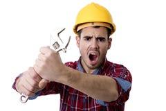 Key worker shouting Royalty Free Stock Photo