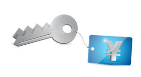 Key yen security illustration design Stock Photos